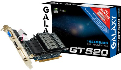 Buy Galaxy NVIDIA GeForce GT 520 1 GB DDR3 Graphics Card: Graphics Card