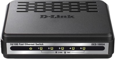 Buy D-Link 5-Port 10/100BASE-T Unmanaged Switch Network Switch: Network Switch