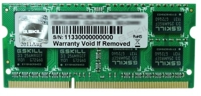 Buy G.Skill SQ For MAC DDR3 4 GB (1 x 4 GB) Laptop (Mac) RAM (FA-8500CL7S-4GBSQ): RAM