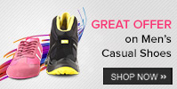 Buy Casual Shoes worth Rs 1499 or more - get 20% off