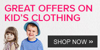 Shop Kid's clothing worth 1000 and get 15% off